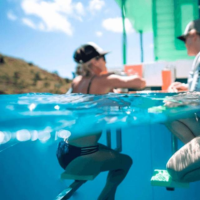 Underwater Seating - Lime Out - St John, USVI